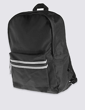 Kids' Back to School Rucksack, BLACK, catlanding