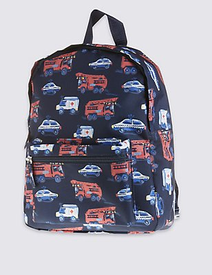 Kids' Transport Rucksack, NAVY MIX, catlanding