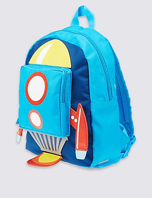 Kids' Rocket Rucksack Bag, BLUE MIX, catlanding
