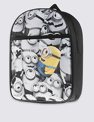 Kids' Despicable Me™ Minion Rucksack, BLACK/WHITE, catlanding