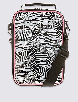 Kids' Zebra Lunch Bag with Thinsulate™, BLACK/WHITE, catlanding