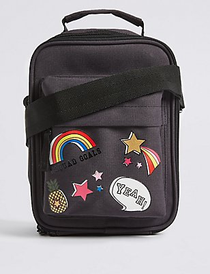Kids' Badge Lunch Box with Thinsulate™, BLACK MIX, catlanding