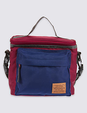 Kids' Colour Block Lunch Bag with Thinsulate™, BURGUNDY, catlanding