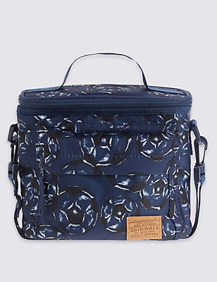 Kids' Football Print Lunch Bag with Thinsulate™, BLUE MIX, catlanding