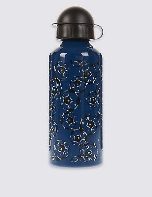 Kids' Football Print Water Bottle, BLUE MIX, catlanding