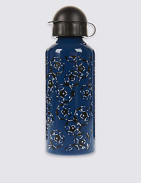 Kids' Football Print Water Bottle, BLUE MIX, catlanding