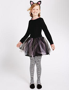 Kids' Tutu Dress (3-12 Years), BLACK MIX, catlanding