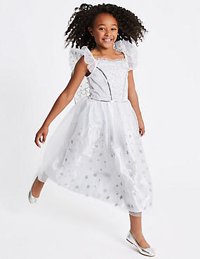 Kids' Sequin Angel Dress Up, WHITE MIX, catlanding