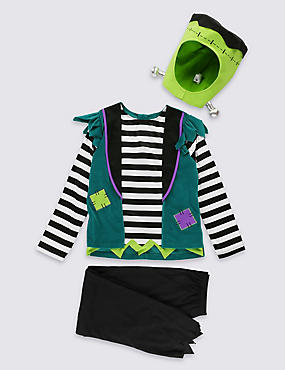 Kids' Frankenstein Dress , GREEN MIX, catlanding