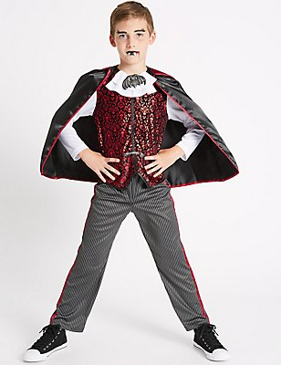 Kids' Vampire Fancy Dress Up, RED MIX, catlanding