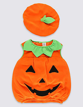 Kids' Pumpkin Dress Up Costume, ORANGE MIX, catlanding