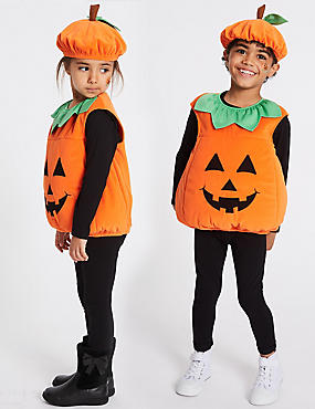Kids' Pumpkin Fancy Dress, ORANGE MIX, catlanding