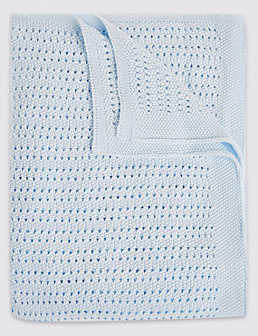 Pure Cotton Cellular Blanket, , catlanding