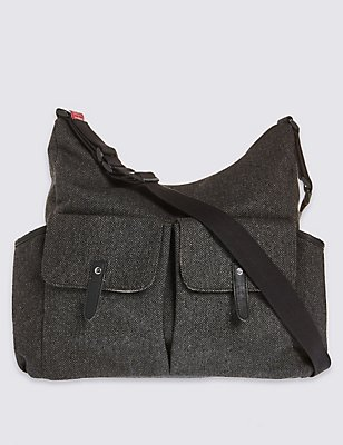 Tweed Frankie Change Bag, , catlanding