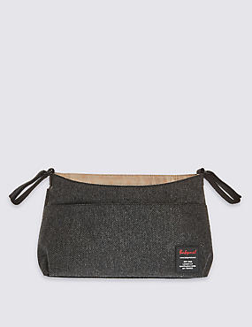 Stroller Organiser Grey Tweed Bag, , catlanding