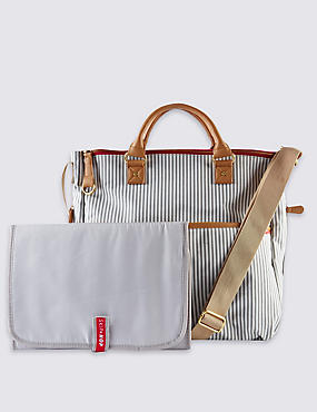 Deluxe Special Edition French Striped Travel Bag, , catlanding