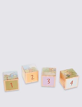 Classic Winnie Wood Set of 4 Blocks, , catlanding