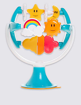 Rainbows & Stars Highchair Toy, , catlanding