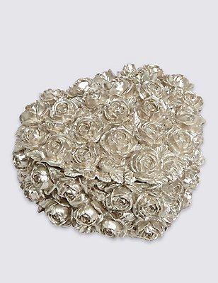 Heart Rose Trinket Box, PEWTER, catlanding