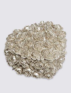 Boîte à bijoux en forme de coeur à motif roses, ÉTAIN, catlanding