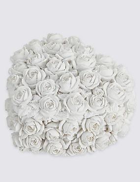 Heart Rose Trinket Box, WHITE, catlanding