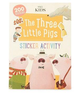 First Readers The Three Little Pigs Sticker Activity Book, , catlanding