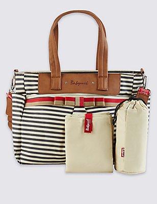 Cara Striped Bow Bag, , catlanding
