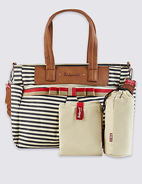 Cara Striped Bow Bag, , catlanding
