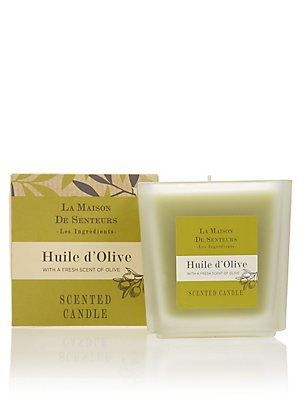Les Ingredients Huile d'Olive Scented Candle 200g, , catlanding