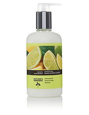 Lemon & Lime Hand and Body Lotion 300ml, , catlanding