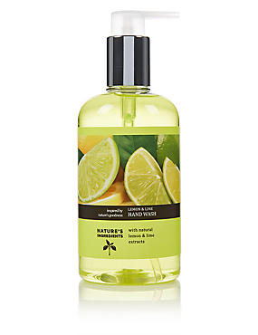Lemon & Lime Hand Wash 300ml, , catlanding