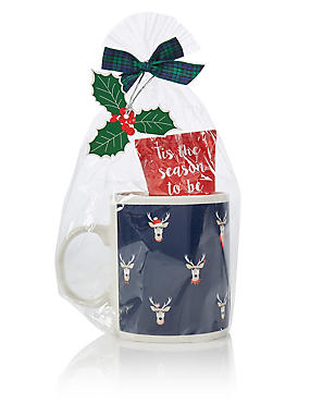 Grumpy Stag Mug Set, , catlanding