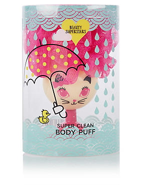 Beauty Superstars Super Clean Body Puff, , catlanding