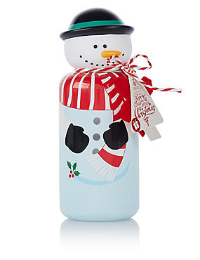 Let It Snow Snowman Bubble Bath 250ml, , catlanding
