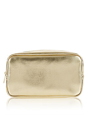 Gold Makeup Bag, , catlanding
