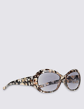 Floral Print Reading Glasses, MULTI, catlanding