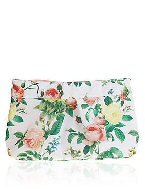 Bloom Floral Print Washbag, , catlanding