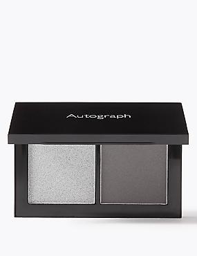 Lasting Colour Luxe Duo Eyeshadow, Smoky grey , catlanding