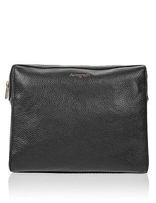 Luxury Leather Wash Bag, , catlanding