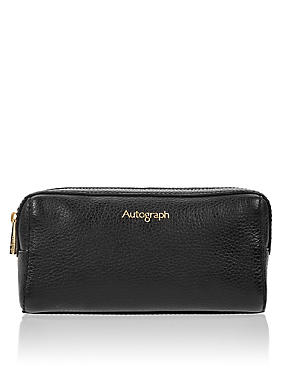 Luxury Leather Cosmetic Purse, , catlanding