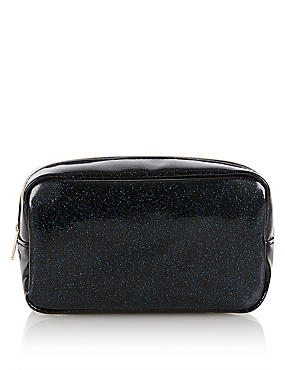 Blue Glitter Makeup Bag, , catlanding