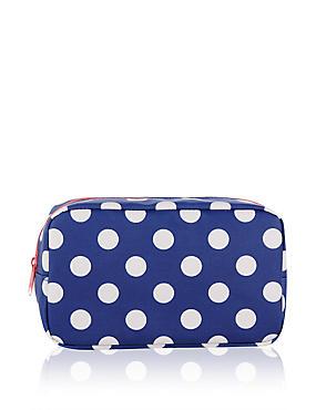 Small Polka Dot Cosmetic Bag, , catlanding