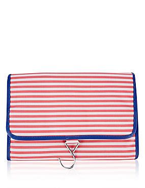Striped Hanging Wash Bag, , catlanding