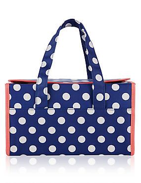 Polka Dot Weekender Bag, , catlanding