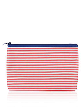 Striped Wash Bag, , catlanding