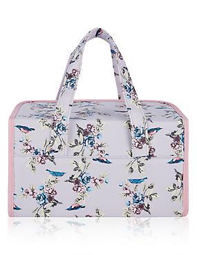 Vintage Bird Print Weekender Bag, , catlanding
