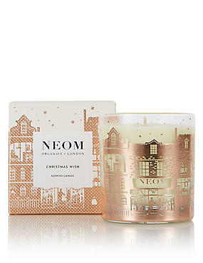 Christmas Wish 1 Wick Scented Candle 185g, , catlanding