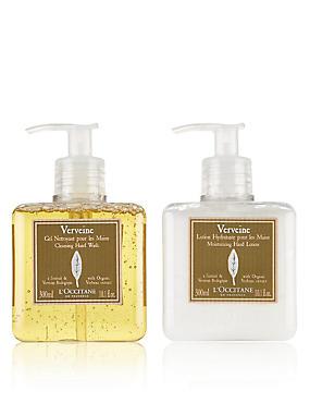 Refreshing Verbena Hand Wash & Lotion Duo, , catlanding