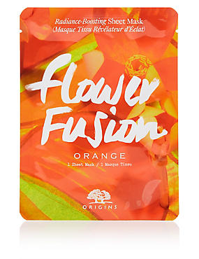 Flower Fusion™ Hydrating Sheet Mask - Orange Flower, , catlanding