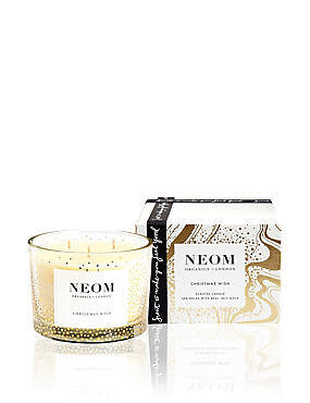 Christmas Wish Scented Candle 3 Wick 350g, NO COLOUR, catlanding